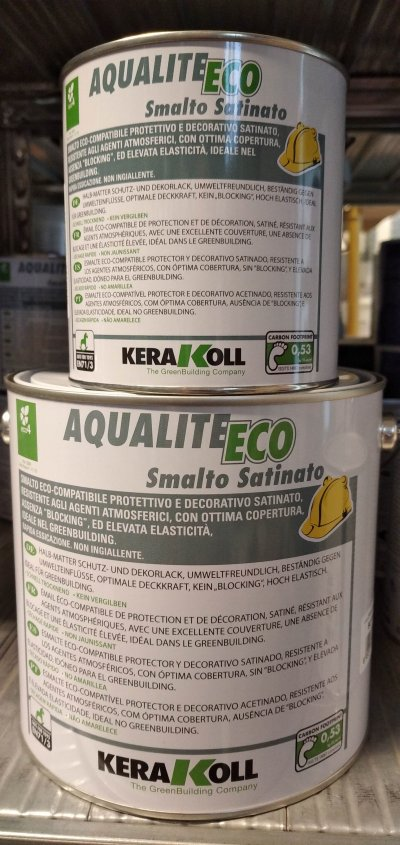 Immagine: SMALTO ALL'ACQUA  KERAKOLL AQUALITE 0,75 -2,5 LT